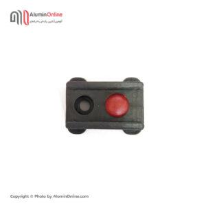 ضربه گیر (ثابت کن) پلاستیکی درب و پنجره آلومینیومی دکمه قرمز نمای بالا