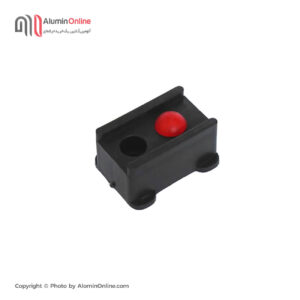 ضربه گیر (ثابت کن) پلاستیکی درب و پنجره آلومینیومی دکمه قرمز