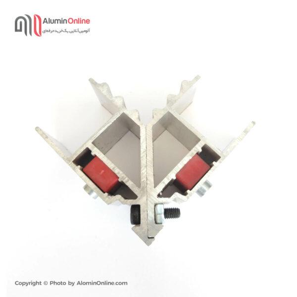 فیکسر ۴۲ در ۳۵ مناسب برای درب و پنجره آلومینیومی سیستم لولایی نمای بالا