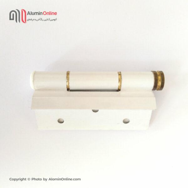 لولا سفید میل دار یه سر حلقه طلایی درب و پنجره آلومینیومی سنتی