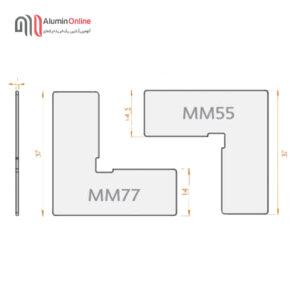 گونیای فلزی و پلاستیکی پهنMM55(14.5) وMM77(14)