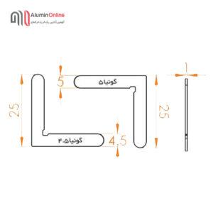 گونیای فلزی MO19 نقشه