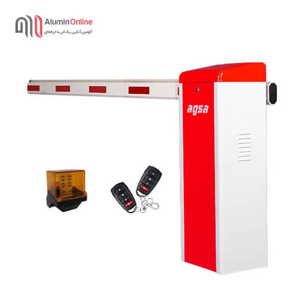 راهبند ارزان پارکینگ مدل agsa406et با فلاشر و دو عدد ریموت کنترل