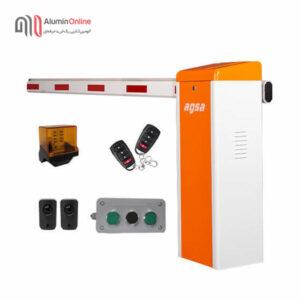 راهبند پارکینگ فول آپشن مدل agsa606ft با کلید دستی، چشمی ایمنی، فلاشر و دو عدد ریموت کنترل