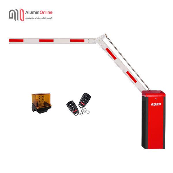 راهبند ارزان پارکینگ بازو تاشو 90 درجه مدل agsa406et با فلاشر و دو عدد ریموت کنترل