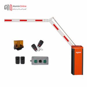 راهبند پارکینگ بازو تاشو 90 درجه فول آپشن مدل agsa606ft با کلید دستی، چشمی ایمنی، فلاشر و دو عدد ریموت کنترل