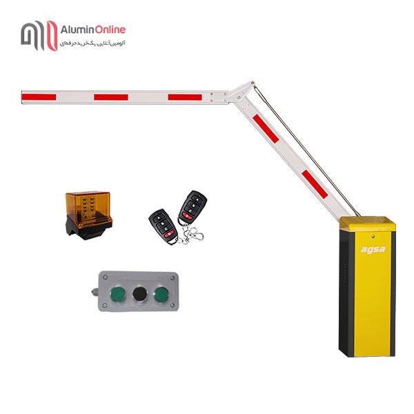 راهبند پارکینگ ایرانی بازو تاشو 90 درجه مدل agsa506nt با کلید دستی، فلاشر و دو عدد ریموت کنترل